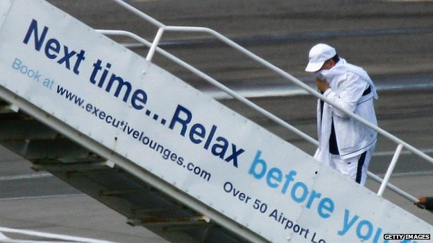 Megrahi boarding flight to Libya