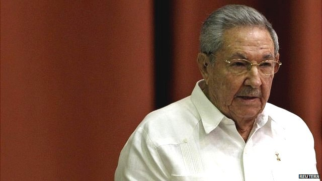 President Raul Castro addresses the audience during the National Assembly in Havana