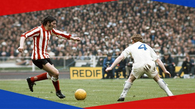 Sunderland take on Leeds United in the 1973 FA Cup final