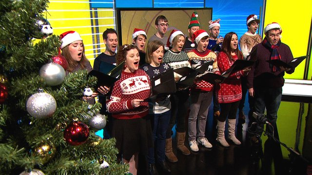 The Knott Singers perform Dan Walker's 'Football Ding Dong'