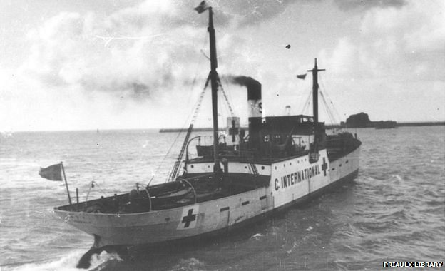 SS Vega leaving Jersey