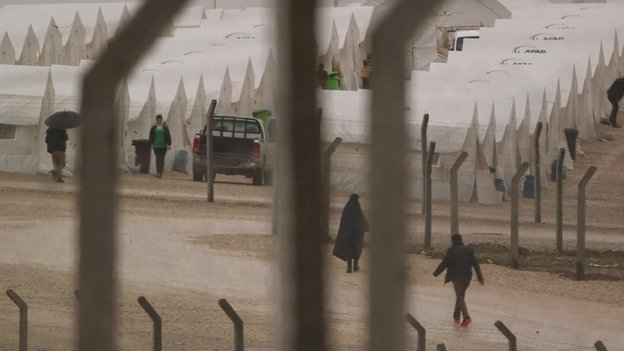 Displaced persons camp in northern Iraq