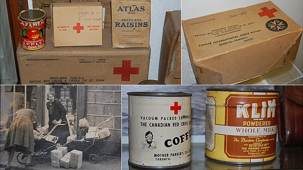 Red Cross food parcels delivered to the Channel Islands, held by the Guernsey Occupation Museum