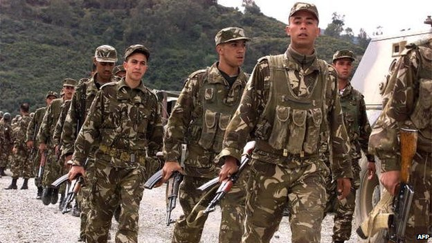 Algerian military are deployed in the mountainous region of Blida, southwest of Algiers - 28 March 2001