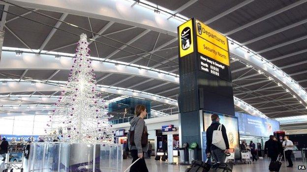 Heathrow Airport at Christmas