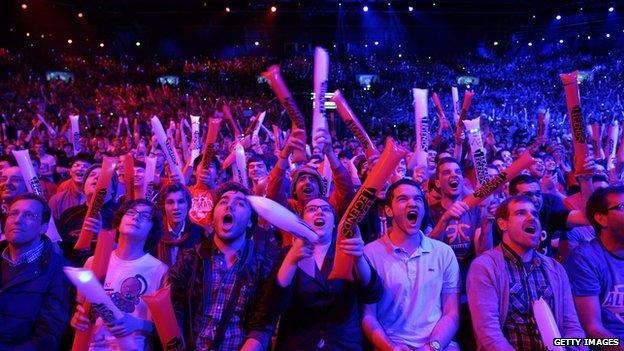 E-sports crowd goes wild
