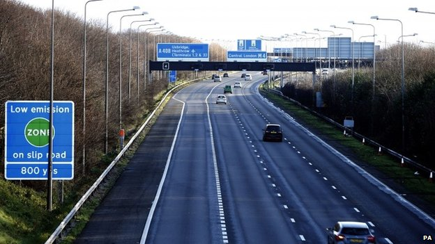 M4 motorway near Heathrow