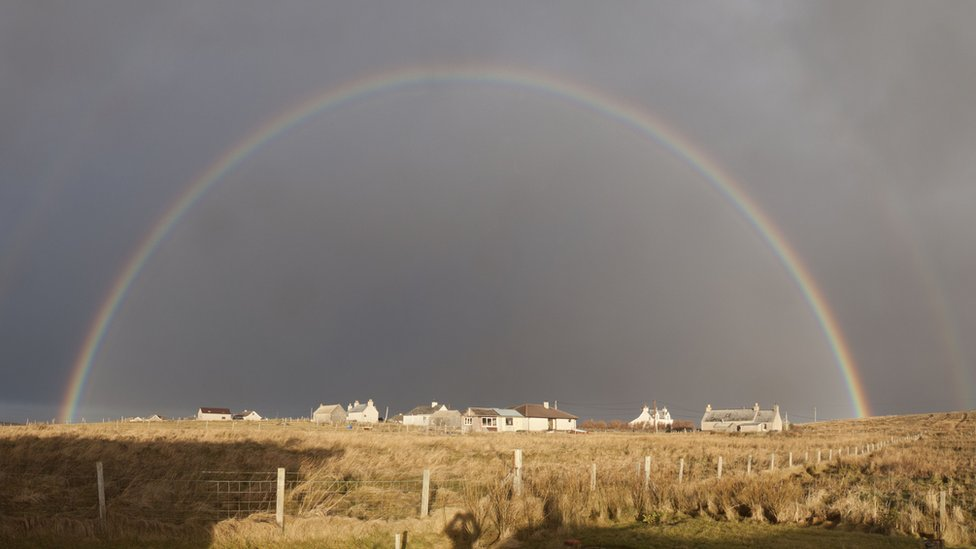 Rainbow over Shawbost