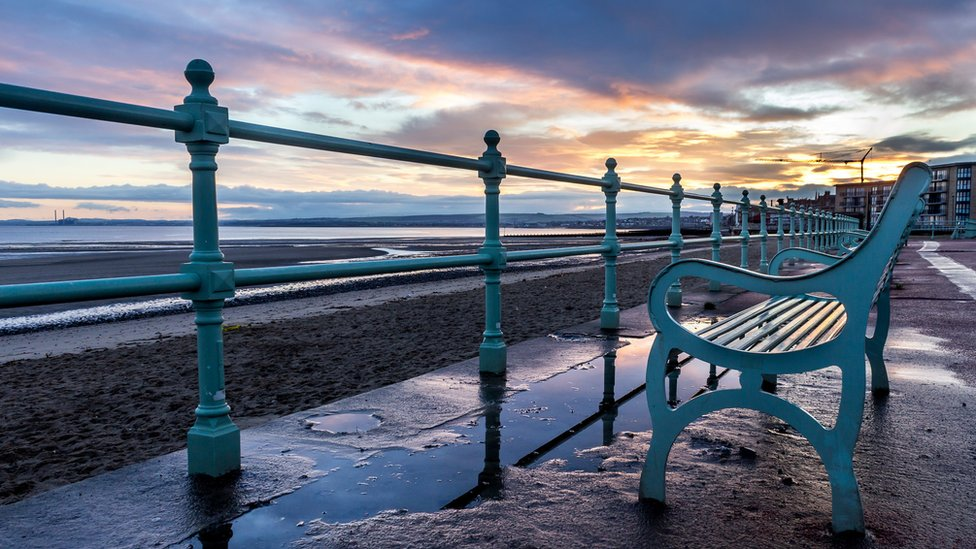The sunrise at Portobello beach