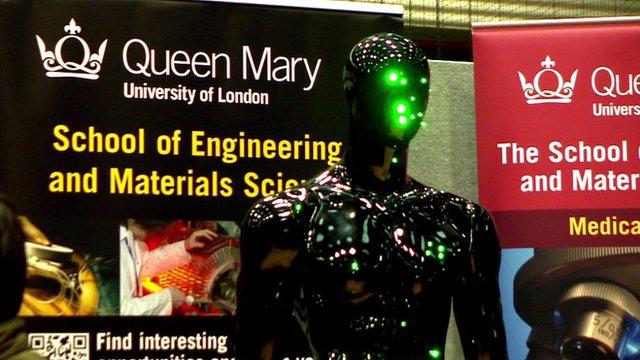Robot at a science fair