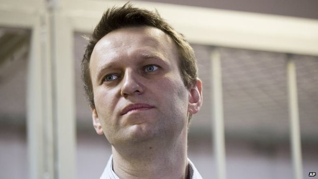 Alexei Navalny at a sentencing hearing in Moscow (30 December 2014)