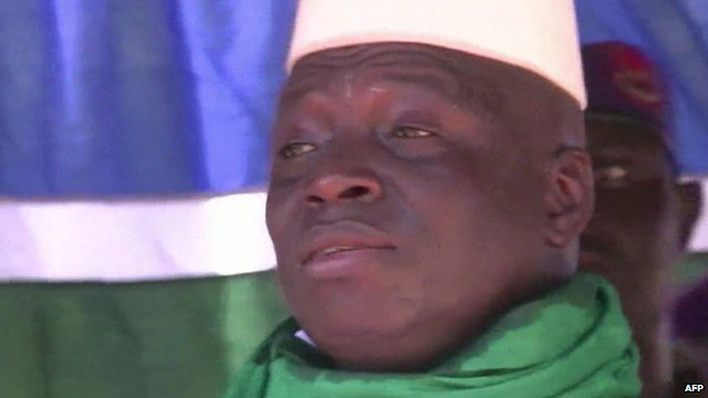 File photo of The Gambia president Yahya Jammeh