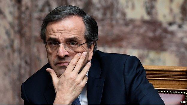 Greek Prime Minister Antonis Samaras, 29 Dec 14