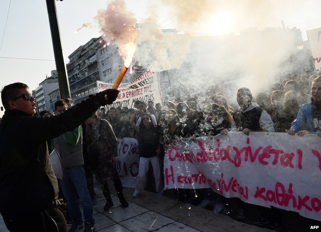 Greek student protest, 3 Nov 14