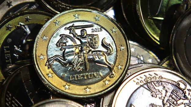 One-euro coins