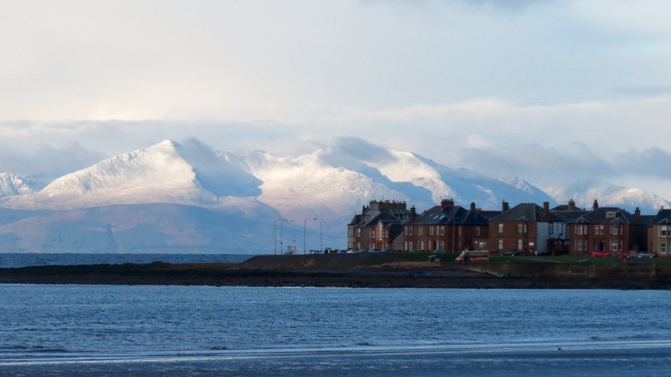 Arran's snow-covered hills