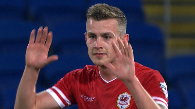 Joe Ralls puts Cardiff City 1-0 up against Colchester United