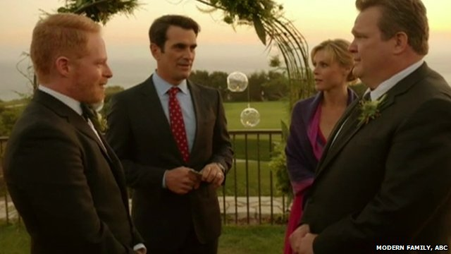 Scene from ABC show, Modern Family