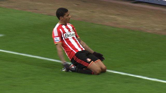 Patrick van Aanholt scores for Sunderland against Leeds