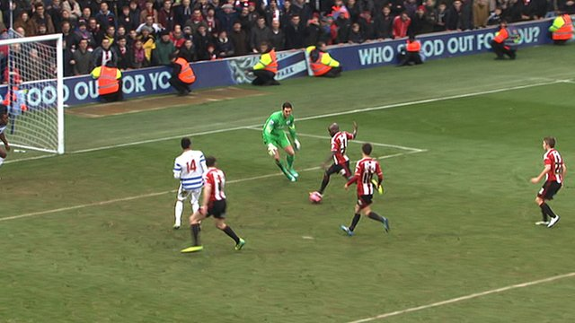 Sheffield United's Jamal Campbell-Ryce scores against QPR