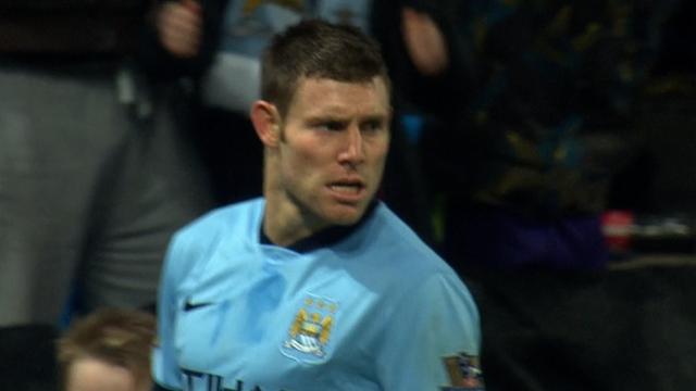 James Milner equalises for Manchester City