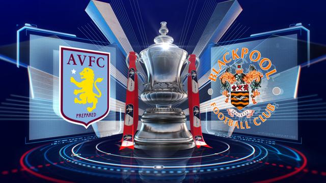 FA Cup: Aston Villa 1-0 Blackpool highlights