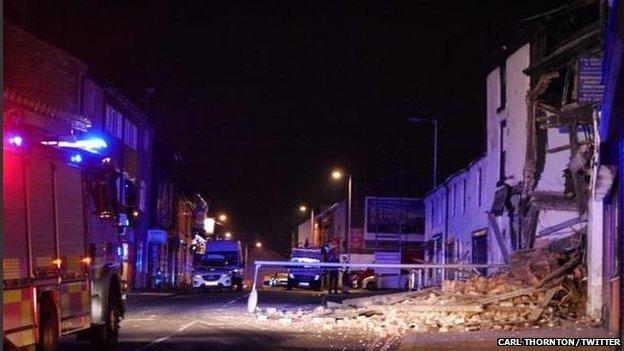 Building collapse in Wrexham