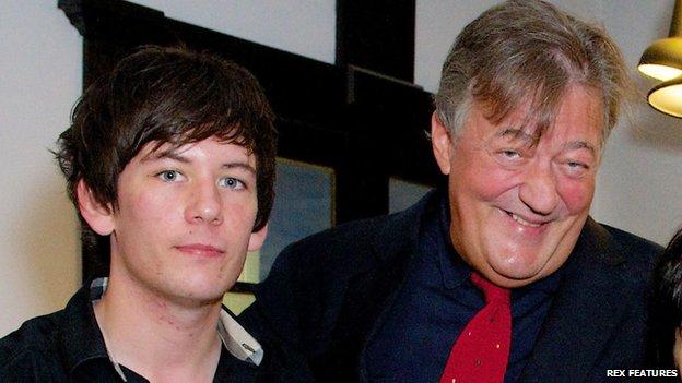 Elliott Spencer and Stephen Fry