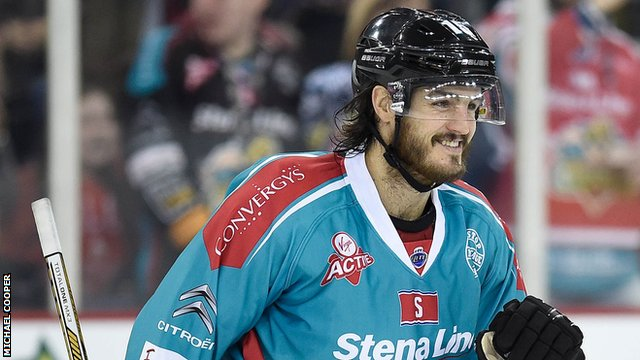 Kevin Westgarth of the Belfast Giants