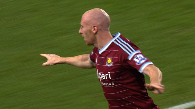 James Collins scores for West Ham