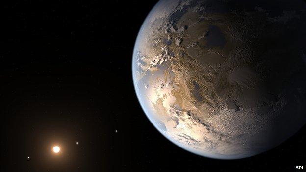 Artist's view of Kepler 186f