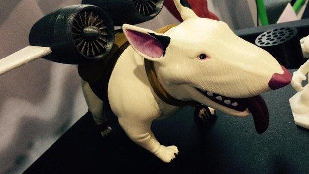 3D printed dog