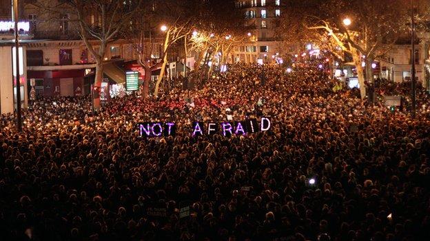 People gather in Paris