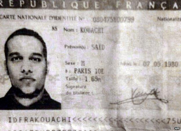 Said's ID card - photocopy