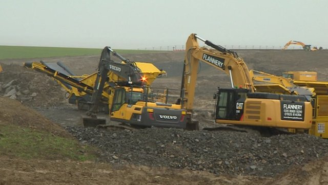 Excavators begin work on the Hinkley Point C site