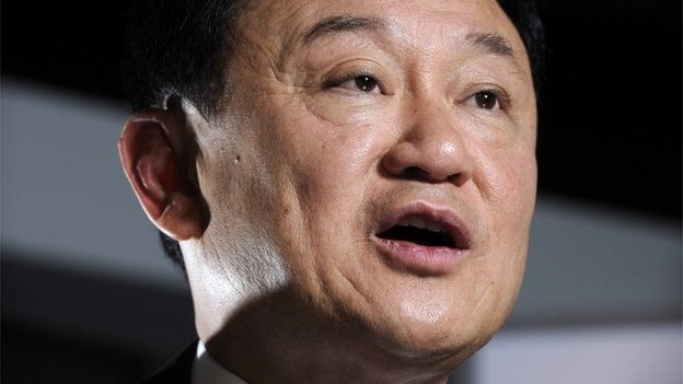 Thaksin Shinawatra, former prime minister of Thailand, speaks during an interview in Singapore, on Monday, Sept. 24, 2012.