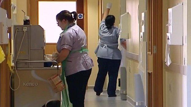 Internal view at Hinchingbrooke Hospital