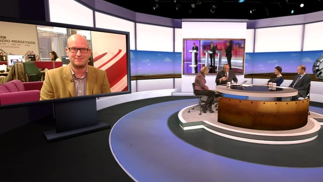 Paul Nuttall, Natalie Bennett, Andrew Neil and journalists on the Daily Politics
