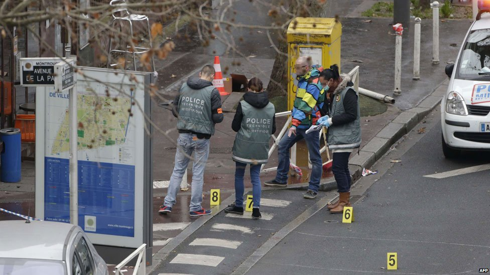 Scene of shooting of policewoman in Montrouge