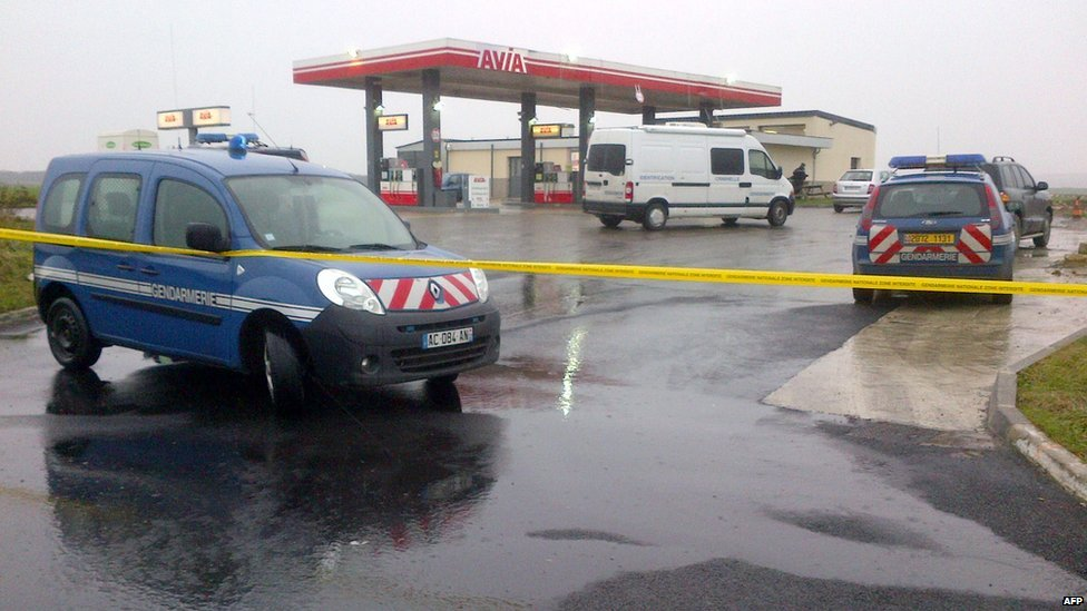 Petrol station reported to have been robbed by the suspects