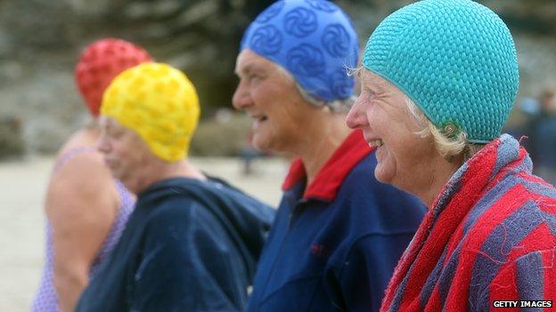 pensioners prepare for swimming competition