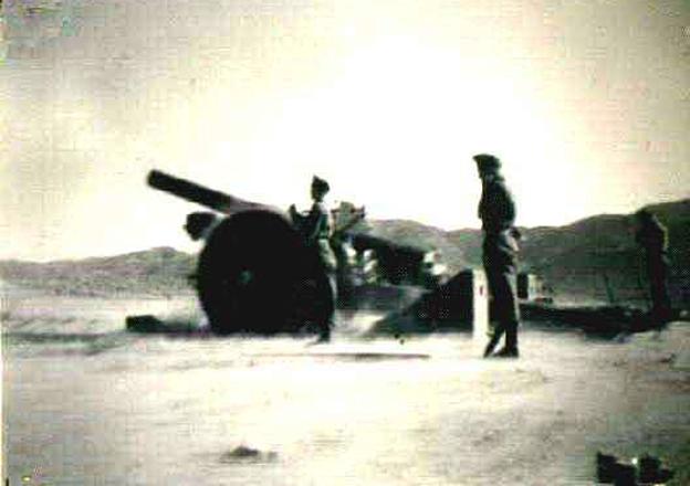 Gun in Razmak, circa 1947