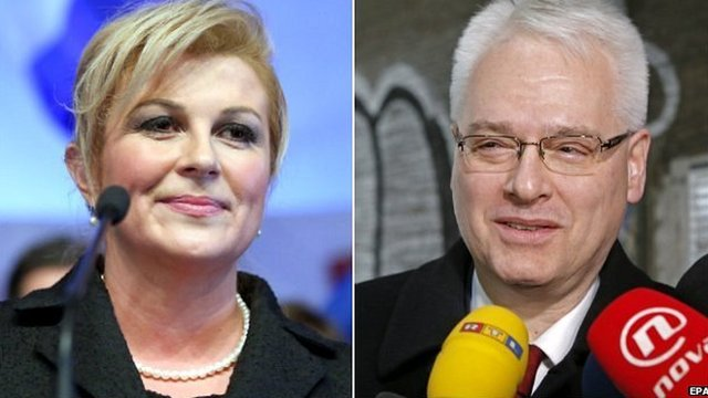 Kolinda Grabar-Kitarovic and Ivo Josipovic