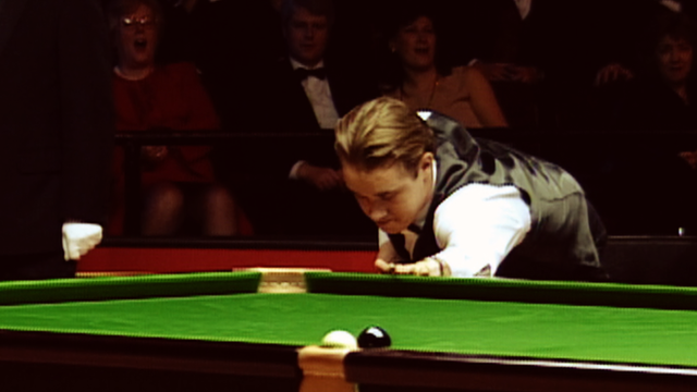 Stephen Hendry misses the black at the Masters
