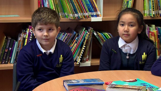 Pupils being asked about the general election