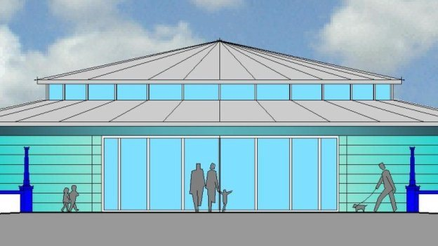 Bandstand newydd Aberystwyth