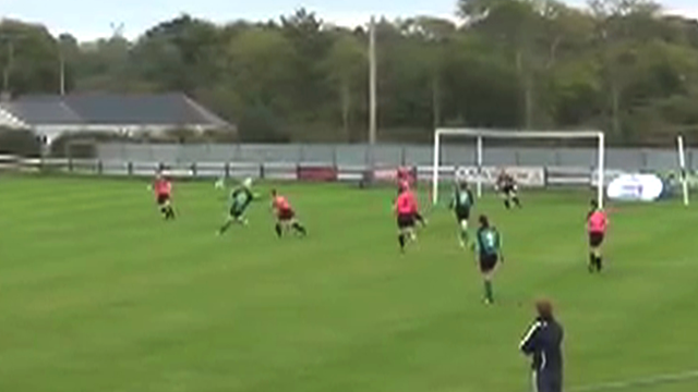 Stephanie Roche scores a stunning goal for Peamount United against Wexford Youths