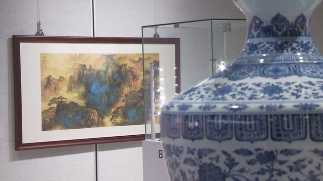 A painting and a vase