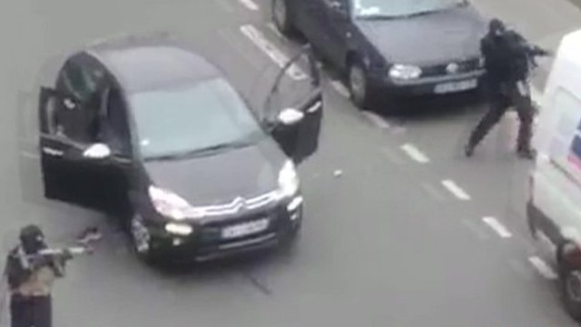 Gunmen getting into car