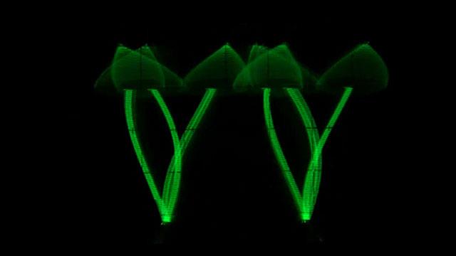 An oscilloscope image